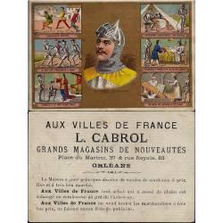 Chromo - Aux villes de France - L. Cabrol - Orléans - La vie de Bertra