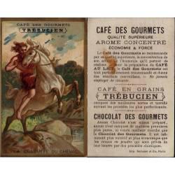 Chromo - Café des Gourmets - Trébucien - N° 12 La conquête du cheval -