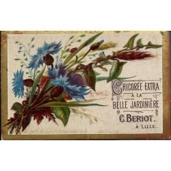 Chromo - Chicorée Extra La Belle Jardinière - Fleurs I - Beriot - Lill