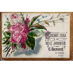 Chromo - Chicorée Extra La Belle Jardinière - Fleurs III - Beriot - Li