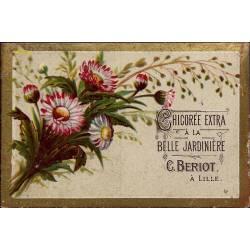 Chromo - Chicorée Extra La Belle Jardinière - Fleurs VI - Beriot - Lil