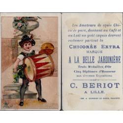 Chromo - Chicorée Extra La Belle Jardinière - Joueuse de Tambour - Ber