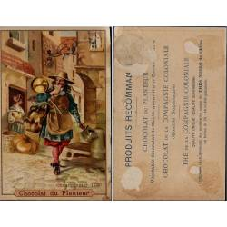 Chromo - Chocolat du Planteur - Chaudronnier en 1720 - Traces de colle
