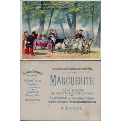 Chromo - A la marguerite - Voiture à chèvres au bois de boulogne - Bon