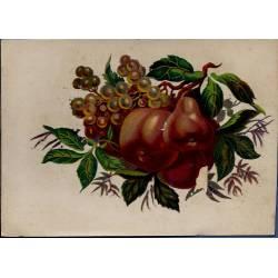 Chromo - Fleurs et fruits I - Bon état - 9 cm x 13 cm