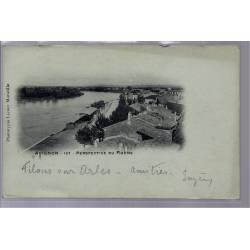 84 - Avignon - Perspective du Rhône - Voyagé - Dos non divisé