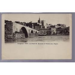 84 - Avignon - Le Pont St-Benezet et Palais des Papes - Non voyagé - Dos no