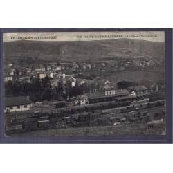 87 - Saint-Sulpice-Laurière - la gare - vue générale - Voyagé - Dos divisé