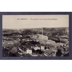 87 - Limoges - vue générale vers le pont Saint-Etienne - Non voyagé - Dos d