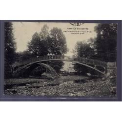 87 - Aixe - passerelle - vieux pont Romain - Voyagé - Dos divisé