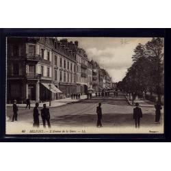 90 - Belfort - l' Avenue de la Gare - Non voyagé - Dos divisé