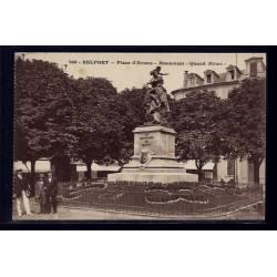 """90 - Belfort - Place d' Armes - Monument  """"Quand Même"""" - Voyagé - Dos divis"""