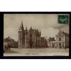 91 - Etampes - Hôtel de Ville - Voyagé - Dos divisé