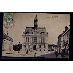 91 - Corbeil - l' Hôtel de Ville - la Place Galignari - Voyagé - Dos divisé