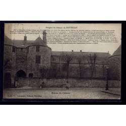 91 - Dourdan - Entrée du château - Voyagé - Dos divisé