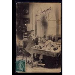 92 - Sèvres - Manufacture de Sèvres - un peintre décorateur - Voyagé - Dos