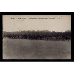94 - Vincennes - le Polygone - Manoeuvres d' Artillerie - Voyagé - Dos divi