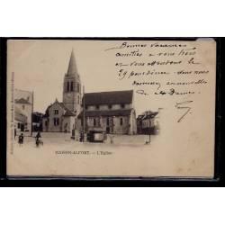 94 - Maison-Alfort - L' église - Voyagé - Dos non divisé