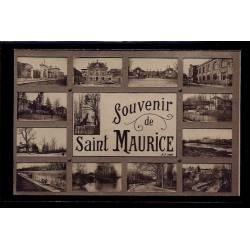 """94 - Saint-Maurice - carte """"Souvenir de Saint-Maurice"""" - avec différentes v"""