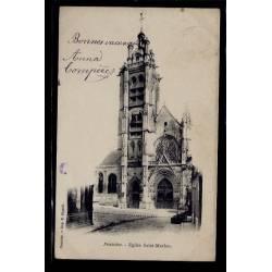 95 - Pontoise - Eglise St-Maclou - Voyagé - Dos non divisé