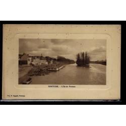 95 - Pontoise - L' Ile du Pothuis - Voyagé - Dos divisé