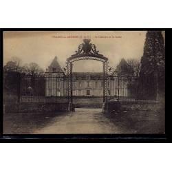 95 - Villers-en-Arthies - le château et la grille - Non voyagé - Dos divisé