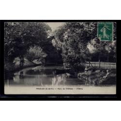 95 - Presles - parc du château - l' étang - Voyagé - Dos divisé