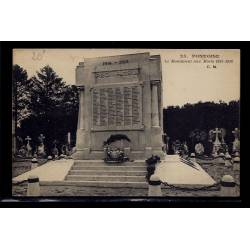 95 - Pontoise - Le Monument aux morts 1914-1918 - Voyagé - Dos divisé