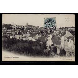 95 - Pontoise - vue générale - Voyagé - Dos divisé