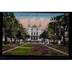 Monaco - Monté-Carlo - les  jardins et le casino - Non voyagé - Dos divisé