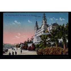 Monaco - Monté-Carlo - le casino et les terrasses - Non voyagé - Dos divisé