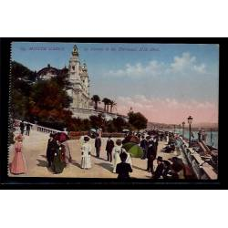Monaco - Monté-Carlo -  le casino et les terrasses - Non voyagé - Dos divis