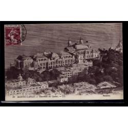 Monaco - Monté-Carlo - Ensemble du casino - Voyagé - Dos divisé