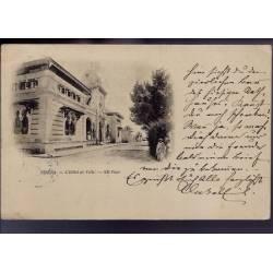 Algérie - 1899 - Biskra - L'hotel de ville - Dos non divisé