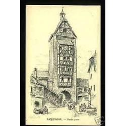 68 - Riquewihr - Vieille porte illustre par Robida