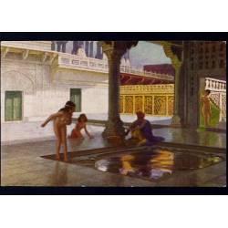 Inde - Charmeur de serpents et femmes nues au sérail de l'empereur San Jehan