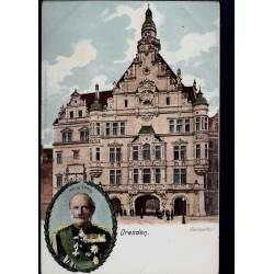 Allemagne - Dresden - König Georg. en médaillon - Georgenthor