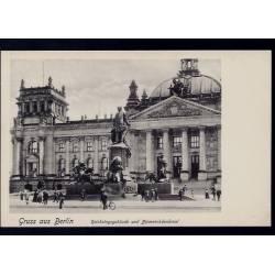 Allemagne - Gruss aus Berlin - Reichstagsgebäude und Bismarckdenkmal