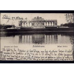 Autriche - Wien - Schönbrunn - gloriette mit Teich