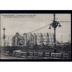 Belgique - Bruxelles Expo. - Incendie des 14-15 Aout 1910 - Derniers vestiges du Palais de la Belgique