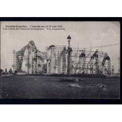 Belgique - Bruxelles Expo. - Incendie des 14-15 Aout 1910 - Ruines du Palais de la Belgique